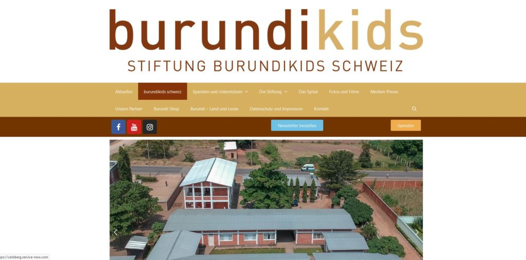 Die neue burundikids webseite