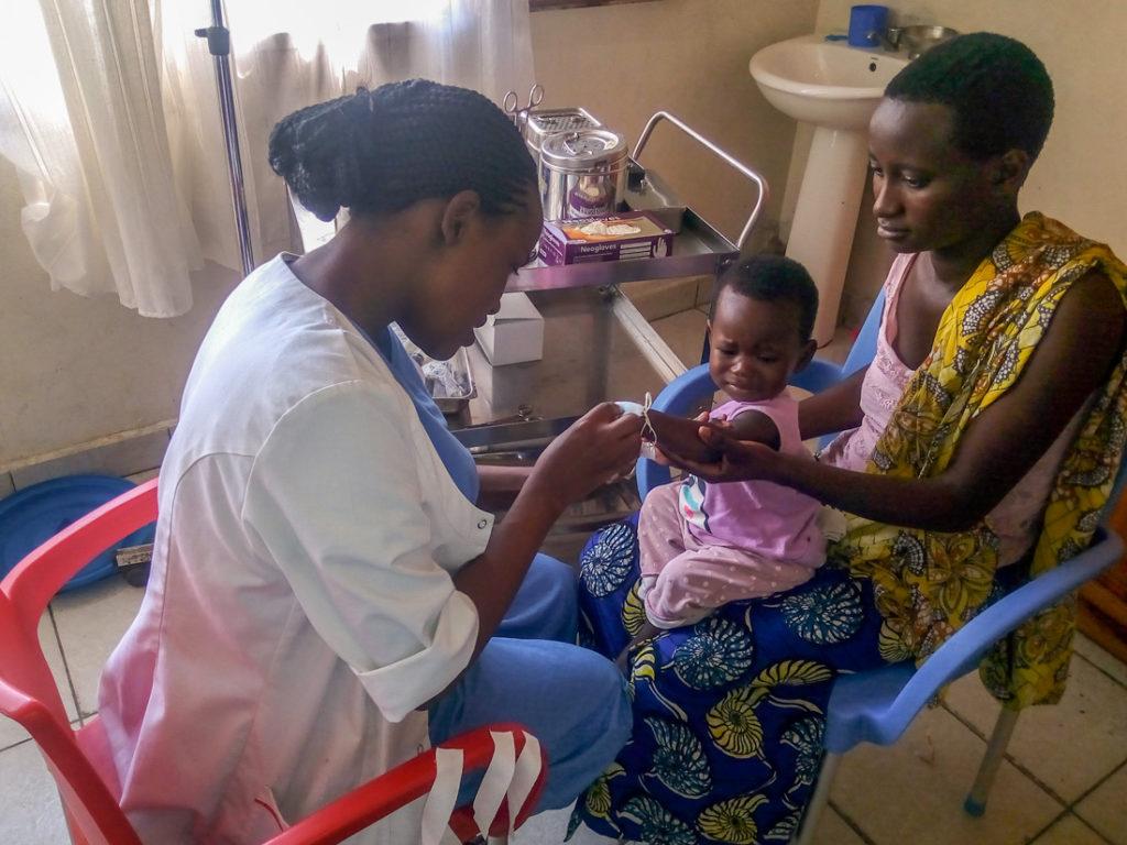 Behandlung bei einem Kind