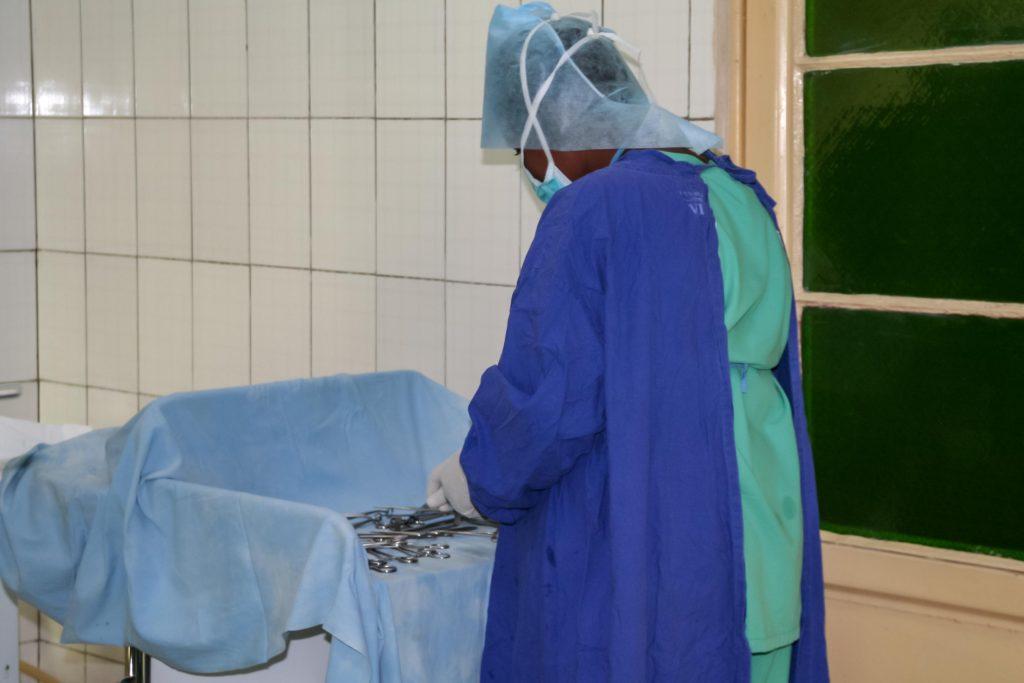 Kaiserschnitt wird vorbereitet